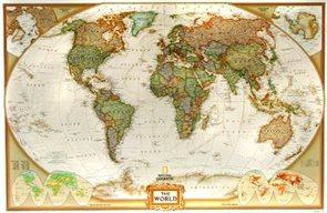 Nástěnná mapa Svět National Geographic