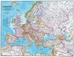 Nástěnná mapa Evropa National Geographic