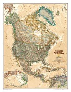 Nástěnná mapa Severní Amerika National Geographic