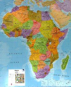 Nástěnná mapa Afrika 1: 8 mil.