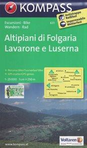 Mapa Altipiani di Folgaria - Lavarone Kompass 1: 25 tis.