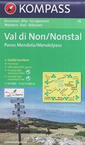 Mapa Val di Non / Nonstal Kompass 1: 50 tis.