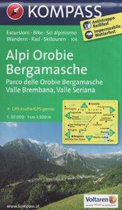 Mapa Alpi Orobie Bergamasche Kompass 1: 50 tis.
