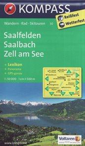 Mapa Saalfelden Saalbach Zell am See Kompass 1: 50 tis.