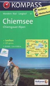 Mapa Chiemsee Kompass 1: 50 tis.