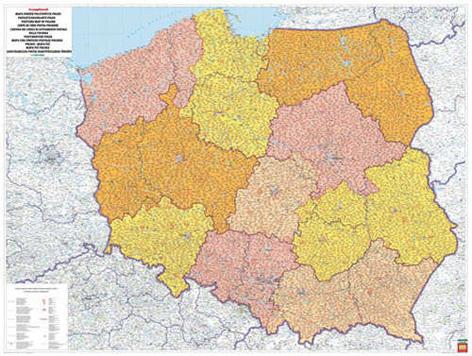 Polsko Spediční nástěnná mapa 1: 750 000
