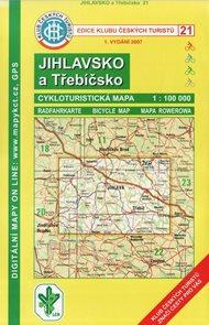 KČT Jihlavsko a Třebíčsko cyklomapa