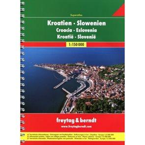 Autoatlas Chorvatsko-Slovinsko A4 1:150 tis.