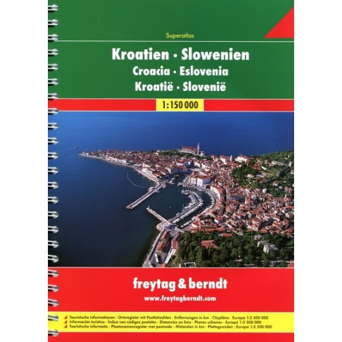 Autoatlas Chorvatsko-Slovinsko A4 1:150 tis. - A4