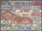 Peněžní mapa Československa nástěnná mapa