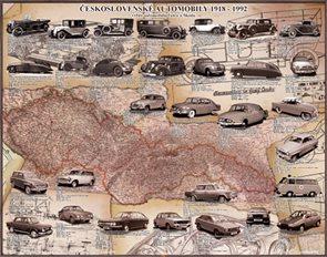 Stolní mapa Československé automobily 1918-1992