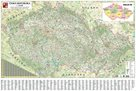 Nástěnná silniční mapa Česká republika 350