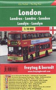 Londýn kapesní městský plán 1: 10 000