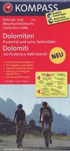 Cyklo Dolomity / Dolomiten, Dolomiti / Kompass 3413 1: 70 000