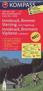 Cyklo Innsbruck, Brenner, Sterzing Kompass 3411