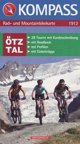 Karty map pro cyklotrasy na horském kole Kompass