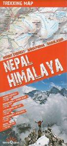 Nepálské Himaláje - trekkingová mapa 1: 100t