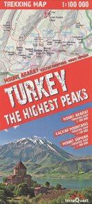 Turecko nejvyšší vrcholy - trekkingová mapa 1: 100t