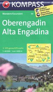 Oberengadin Alta Engadina Kompass 1: 40t