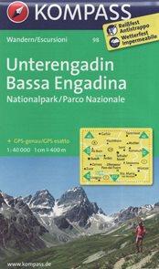 Unterengadin Bassa Engadina Kompass 1: 40t