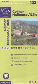 Colmar Mulhouse/Bale 1:100 000 Cyklomapa IGN