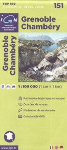 Grenoble Chambéry 1:100 000 Cyklomapa IGN