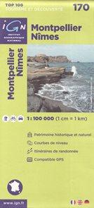 Montpellier Nimes 1:100 000 Cyklomapa IGN