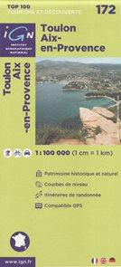 Toulon Aix-en-Provence 1:100 000 Cyklomapa IGN