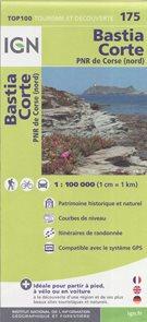Bastia Corte 1:100 000 Cyklomapa IGN