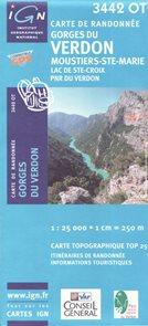 Gorges du Verdon 1:25 000 turistická mapa IGN
