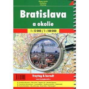 Autoatlas Bratislava a okolie 1:12 000 / 1:100 000