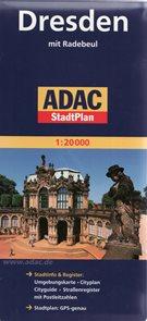 Dresden /Drážďany/ - plán ADAC - 1:20t /Německo/