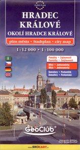 Hradec Králové a okolí 1:12 000/1:100 000