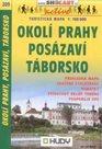 Okolí Prahy - Posázaví, Táborsko - mapa Shocart č.209 - 1:100t