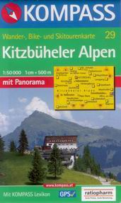 Kitzbuheler Alpen - mapa Kompass č.29 - 1:50t /Rakousko/