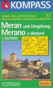 Merano a okolí - mapa Kompass č.53 - 1:50t /Rakousko,Itálie/