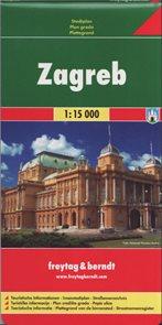 Zagreb /Záhřeb/ - plán Freytag&Berndt - 1:15t /Chorvatsko/