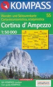 Cortina d Ampezzo - mapa Kompass č.55 - 1:50t /Itálie/