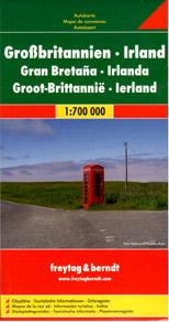 Velká Británie, Irsko - mapa Freytag - 1:700 000