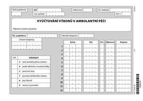 01B- Vyúčtování výkonů v ambulantní péči