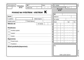 06k- Poukaz na vyšetření-ošetření K - blok