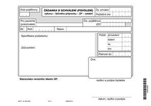 21 -Žádanka o schválení (povolení) výkonu - léčivého přípravku - ZP - ostatní