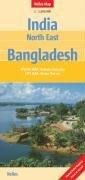 Indie -severovýchod, Bangladéš - mapa Nelles - 1:1,5M