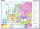 Evropa - příruční mapa politická 1:17M lamino, A3