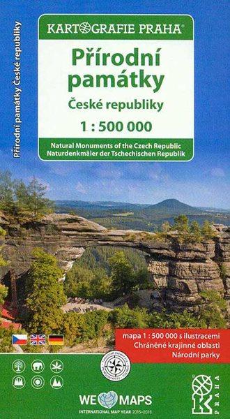 Přírodní památky České republiky 1:500 000 - 12x23 cm