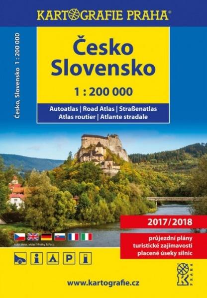 Česko Slovensko autoatlas 1:200 000 - 24x19 cm