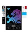 Stírací mapa Evropa - Black Europe