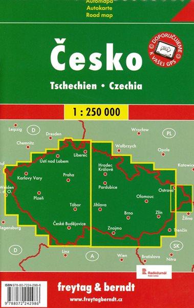 Česko - Automapa 1:250 000 - 13x23 cm