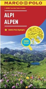 Alpy 1:800 000 - 25x13 cm