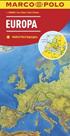 Evropa mapa 1: 2500 000